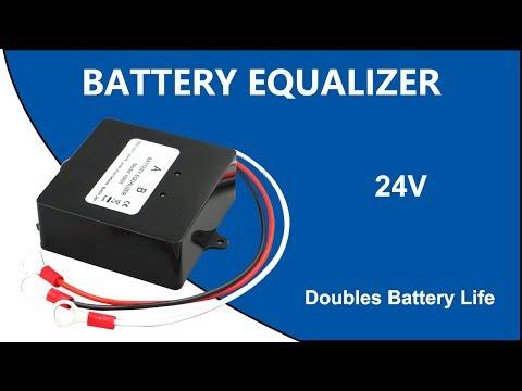 Battery Equalizer 24V, Max 2 × 12V Batteries Voltage Balancer Zhcsolar