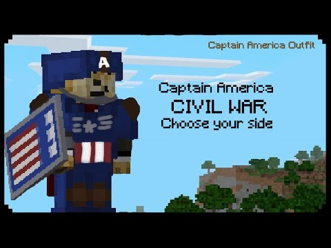 ✔ Minecraft: How to make Captain America Outfit