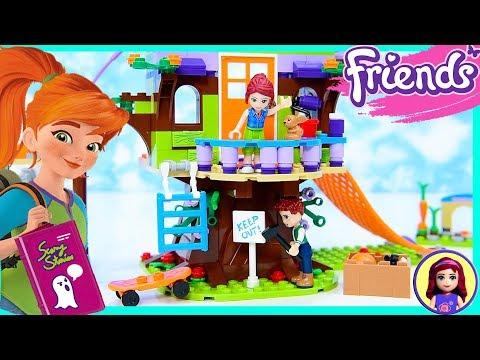 Lego Friends Mia's Tree House Sleepover Silly Play Build Kids Toys