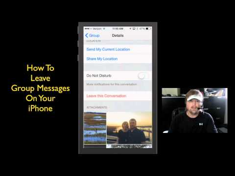 How To Leave (Depart From) Group Messages On iPhone