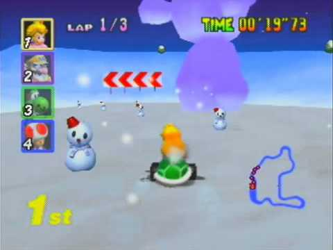 Mario Kart 64 03 - Flying Through the Flower Cup