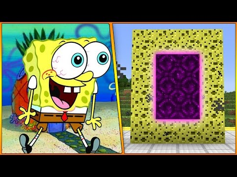 HOW TO MAKE A PORTAL TO THE SPONGEBOB DIMENSION - MINECRAFT