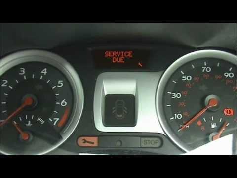 Renault Clio Service light Reset