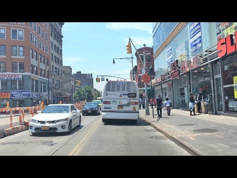 Driving Downtown 4K - NYC's Central Bronx - New York USA