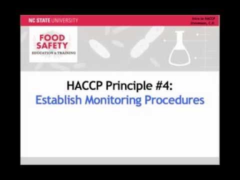 Establishing Food Safety Monitoring Procedures: HACCP Principle #4