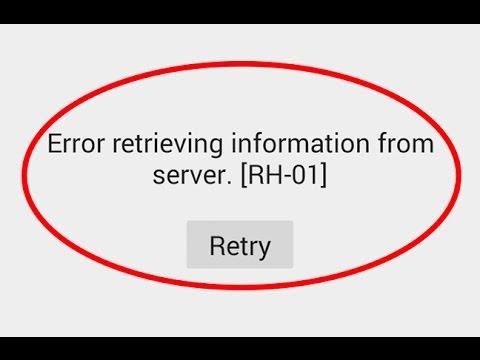 how to fix error retrieving information from server rh-01
