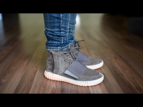 1179dfb42b2 Adidas Yeezy Boost 750 Chocolate On Feet - Green 750 Boost