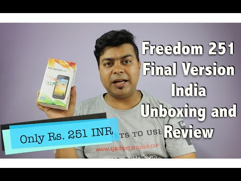 Hindi | Freedom 251 Final Version India Unboxing, Review, Pros, Cons |  Gadgets To Use