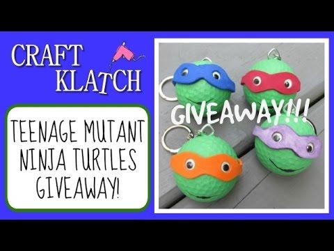 GIVEAWAY Teenage Mutant Ninja Turtle Golf balls!  Craft Klatch