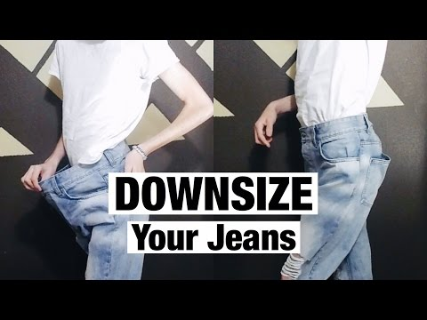 How to Downsize Jeans (Resize Waist)