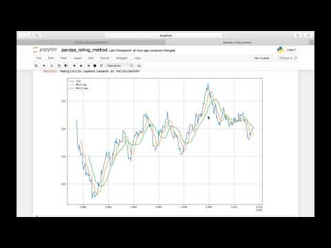 Python Pandas || Moving Averages and Rolling Window Statistics for Stock Prices