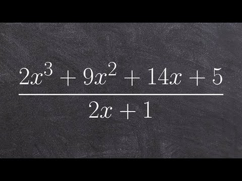 Dividing two polynomials using long division algorithm