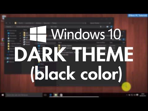 Windows 10- Dark Black Theme