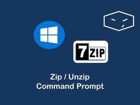 zip and unzip files from command prompt using 7zip