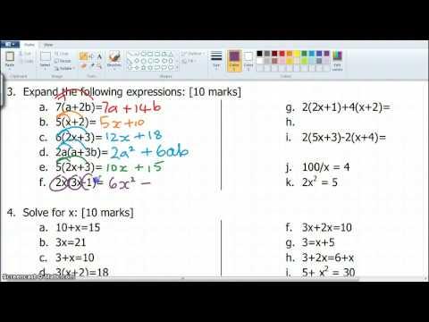 9mat Exam Algebra