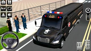 Police Bus Driving Simulator 2019 - 3D Bus Prisoner Transporter Driver - Android GamePlay