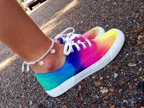 How to tie dye shoes (van look a likes)