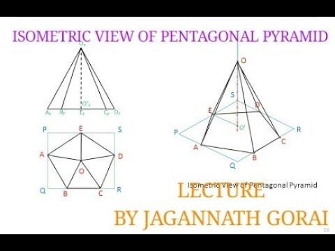 ISOMETRIC VIEW OF PENTAGONAL PYRAMID