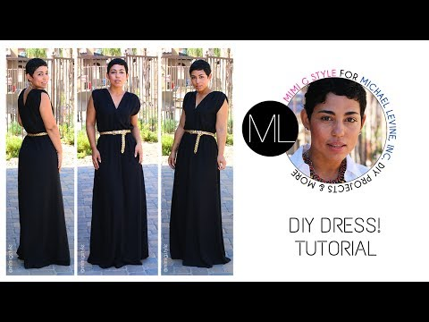 Easy DIY Maxi Dress Tutorial! Mimi G For Michael Levine Inc.