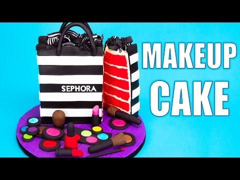 How to Make a Sephora Makeup Cake Tutorial