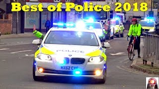 Police Car Responding Compilation - BEST OF 2018 (1) - GREAT SIRENS
