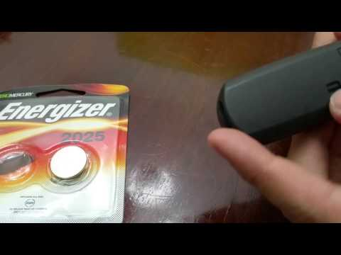 How to replace battery on Mazda Keyless entry (key fob)