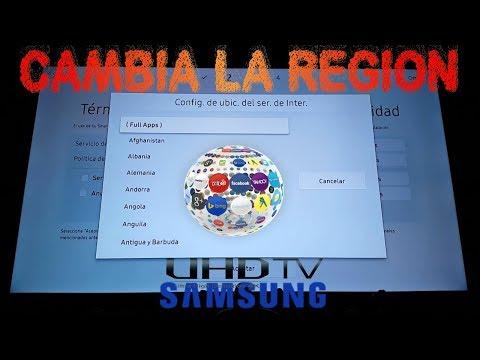 Obtener Apps Nuevas Cambiando Región del Samsung Smart UHD TV