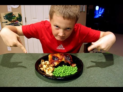 Cooking with Kids: Sweet Chicken Legs with Potatoes and Peas