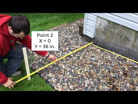 How to mark and measure a slope for a retaining wall design