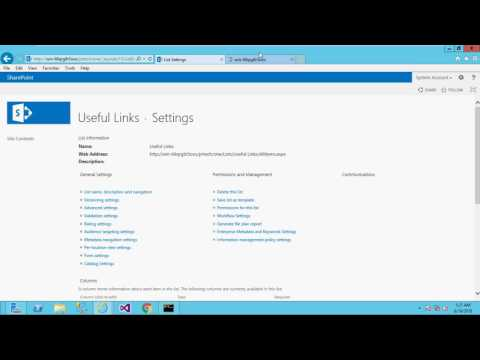 How To Change Order coloum Of Site Content Type Sharepoint 2013