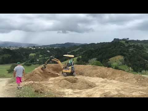 Building the pump track.