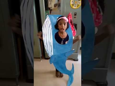 Anika - fancy dress blue whale