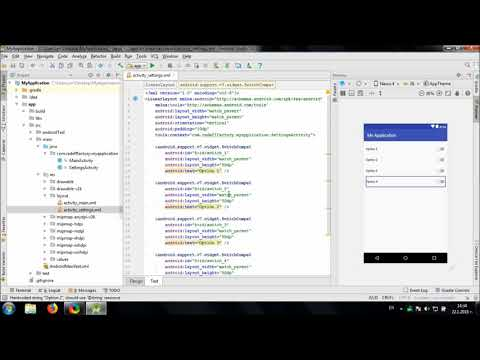 Develop simple Settings Screen in Android Studio