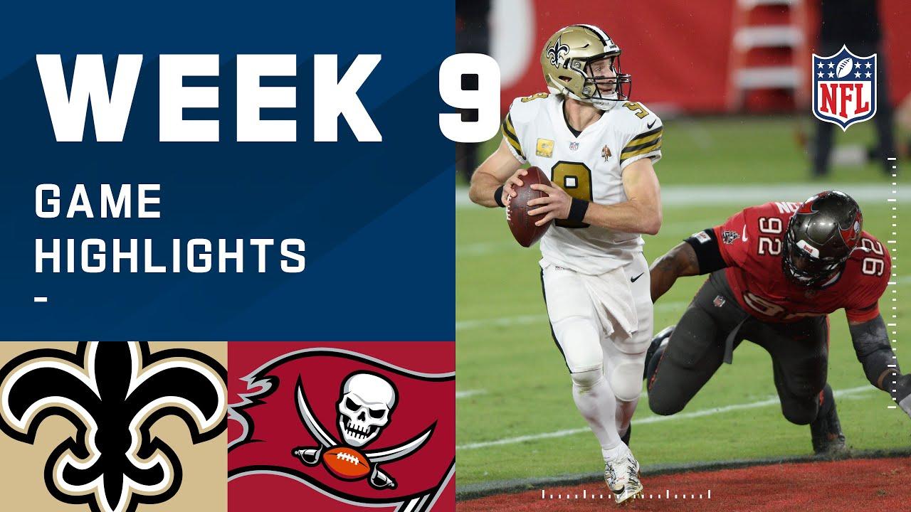 Saints vs. Buccaneers Week 9 Highlights | NFL 2020