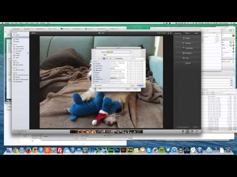 Resizing photos in iPhoto on the mac