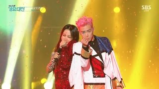 T.O.P X Uhm Jung Hwa - 'D.I.S.C.O' in 2016 SBS Gayodaejun