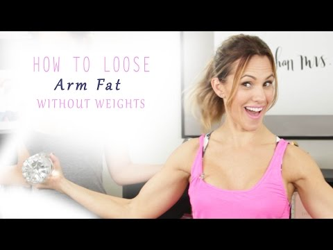 How To Lose Arm Fat - Without Weights (Barre Arm Workout)