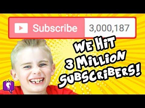 3 MILLION SUBS! We HEART our HobbyFriends SO MUCH! by HobbyKidsTV