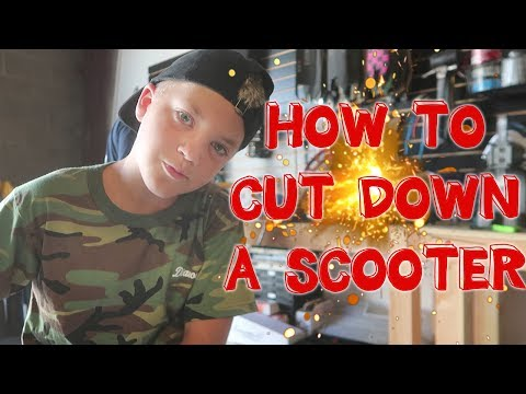 HOW TO CUT DOWN A SCOOTER (2018 unreleased Madd Gear parts)