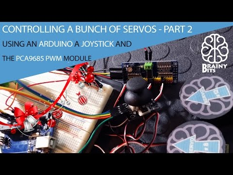 Controlling a bunch of Servo using the PCA9685 Module with Joystick - Part 2 - Tutorial