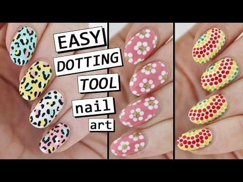 DOTTING TOOL NAIL ART | 3 Easy Designs!