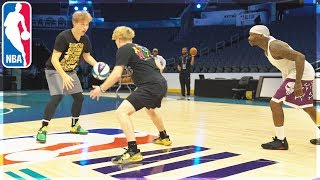 Playing Basketball In NBA ALL STAR ARENA