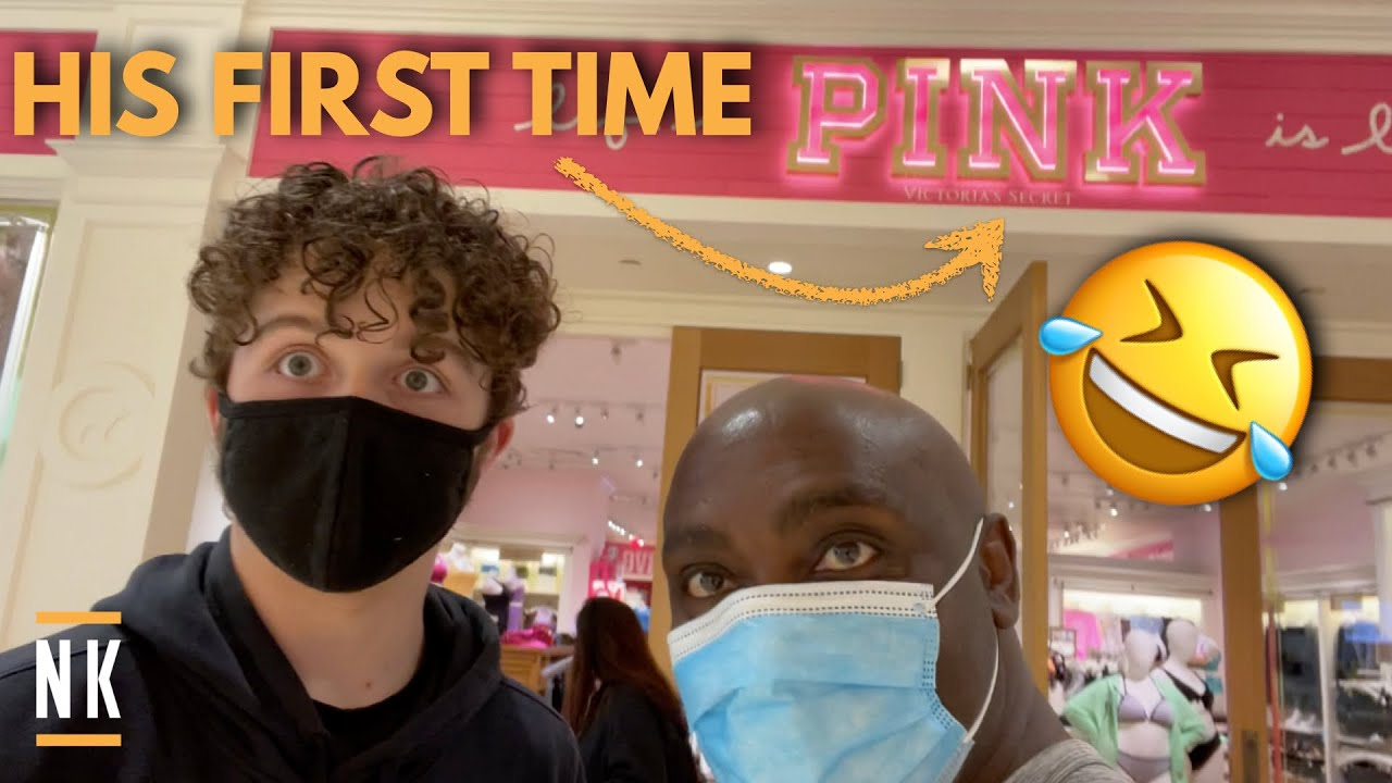 EMBARRASSING MY TEEN SON AT VICTORIA'S SECRET | HOW MUCH FOOD CAN HE EAT?