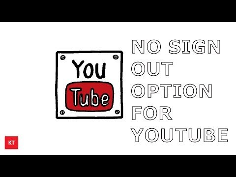Sign out option missing for YouTube app