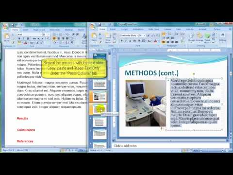 How to prepare the text for your poster presentation