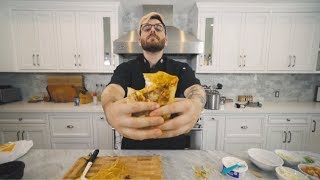 making and eating my first ever crunchwrap