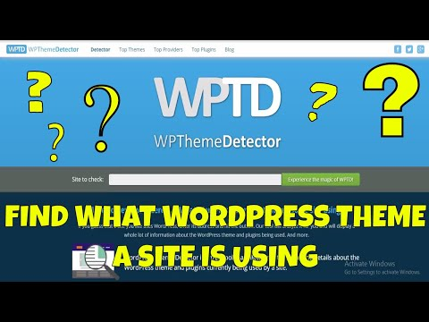 How to See What Wordpress Theme a Site is Using
