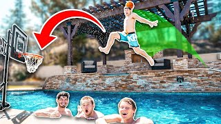 You Wont BELIEVE This POOL Basketball Challenge!