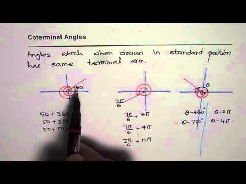 Concept of CoTerminal Angle and How to Find in Degrees and Radians