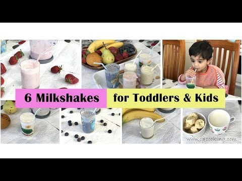 6 milkshakes (sugarfree) for toddlers & kids | Healthy & Tasty fruit smoothies for Toddlers & Kids